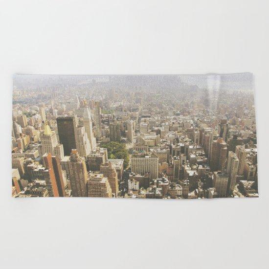 Hazy City - Manhattan Beach Towel