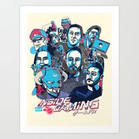 gaming Art Prints featuring Inside Gaming by MikeRush