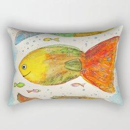 Colourful happy fishes – Fröhlich-bunte Fische Rectangular Pillow