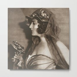 Rose vintage photo  Metal Print