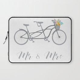 MR & Mrs Tandem Bike Gra Laptop Sleeve