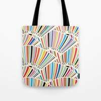 geek Tote Bags featuring Geek by Helene Michau