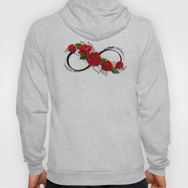 Infinity Symbol with Red Roses Hoodie