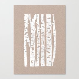 Woodcut Birches Canvas Print