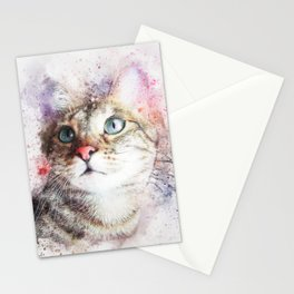 Realistic Cat Stationery Cards