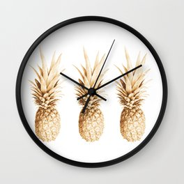 Pineapples and illusion Wall Clock
