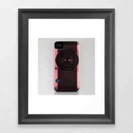 Vintage Camera III - Rosé Gold Framed Art Print