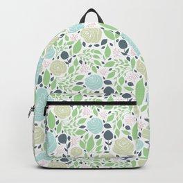 Rose Farm green roses pattern  Backpack