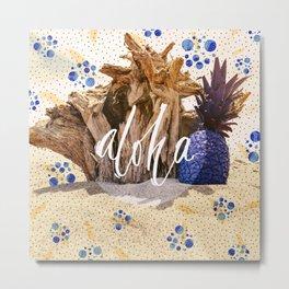 Aloha Pineapple Metal Print