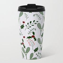 Winter Berries Metal Travel Mug