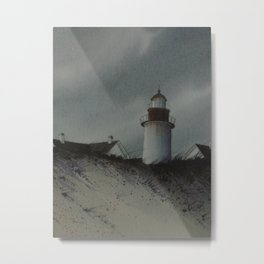 Lighthouse, Watercolor by Dianna Hooper Metal Print