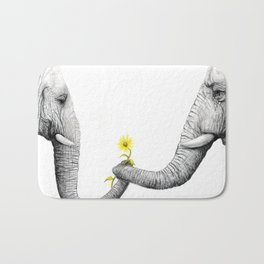 """Up Close You Are More Wrinkly Than I Remembered"" Bath Mat"