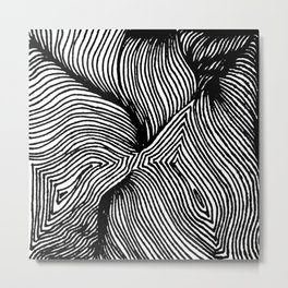 Zentangle #15 Metal Print