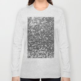 Chic faux silver abstract sequins glitter modern pattern Long Sleeve T-shirt