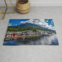 Alaska Ketchikan Hill Pier Cities Building Berth Marinas Houses Rug