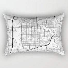 Sioux Falls Map, USA - Black and White Rectangular Pillow