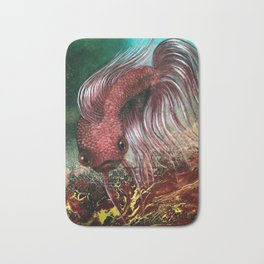 Bird the Betta Fish Bath Mat