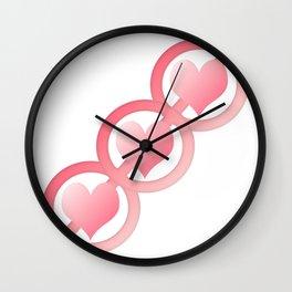 Dangerous Hearts Wall Clock