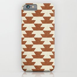 boho geometric aztec in ginger iPhone Case