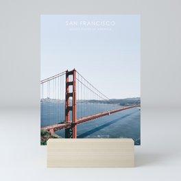 Golden Gate Bridge, San Francisco Travel Artwork Mini Art Print