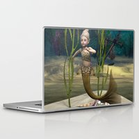 little mermaid Laptop & iPad Skins featuring Little Mermaid by Design Windmill