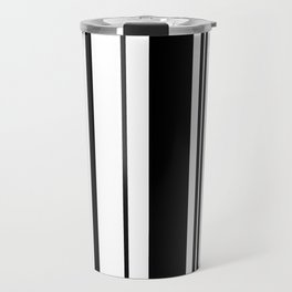 Black and white stripes 1 Travel Mug