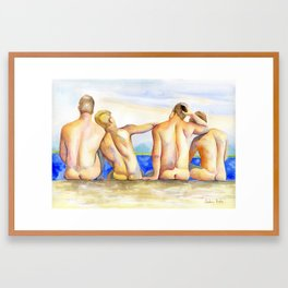 By the riverside Framed Art Print