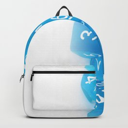 Blue Gaming Dice Backpack