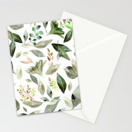 Watercolor fallen leaves 14 Stationery Cards