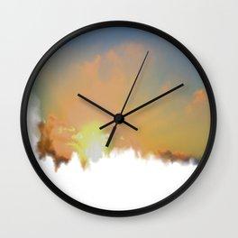 Sunset Lake Murray, La Mesa, California (Copyright) Wall Clock