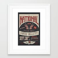 the national Framed Art Prints featuring The National by Jon Contino