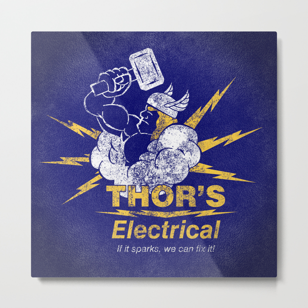 Thor - Thor's Electrical Metal Print by Subpatch MTP968297