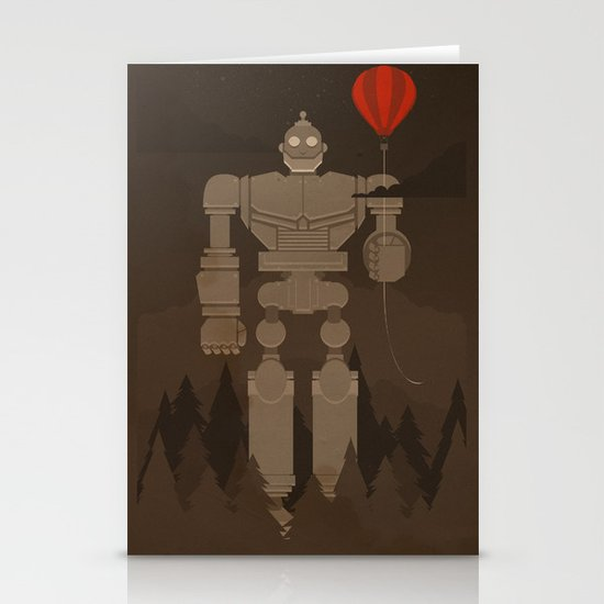 The Robot and The Balloon Stationery Cards