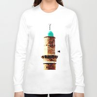 israel Long Sleeve T-shirts featuring Al-Bahr Mosque, Jaffa, Israel by Philippe Gerber