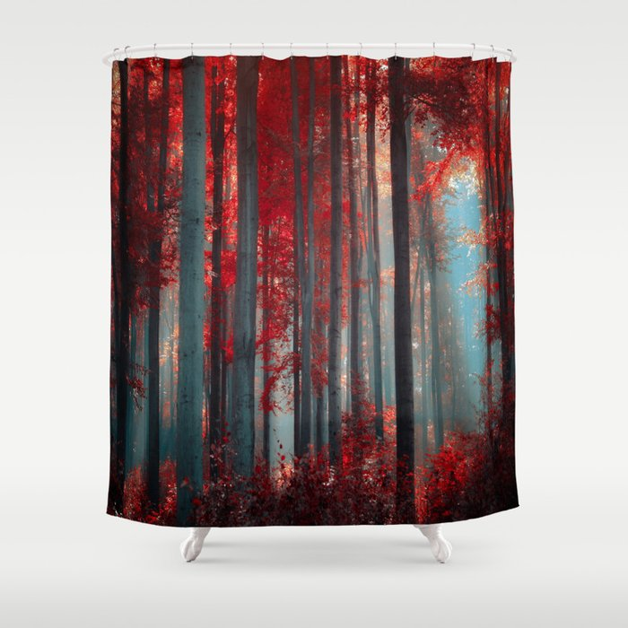Magical trees Shower Curtain