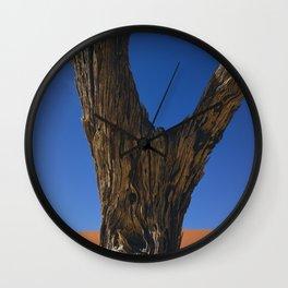 Petrified Tree Texture Deadvlei Namibia Wall Clock