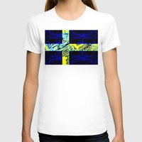 sweden T-shirts featuring circuit board Sweden (Flag) by seb mcnulty