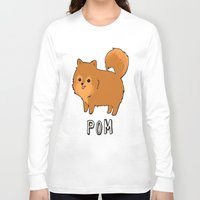 pomeranian Long Sleeve T-shirts featuring Pomeranian by Iroha Kowalski