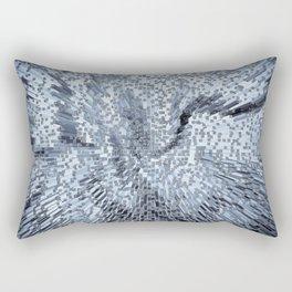 Blue Digital art Abstract Rectangular Pillow