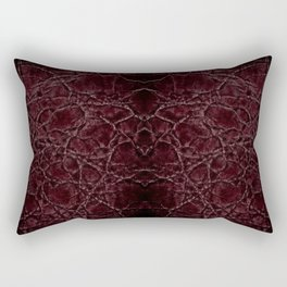 Dark frayed leather texture abstract Rectangular Pillow