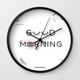 Good Morning, Memphis Style Wall Clock
