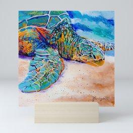 Colorful Sea Turtle Mini Art Print