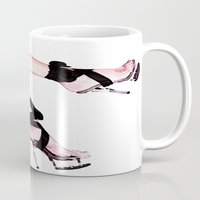 heels Mugs featuring Hot Heels by Erin Conover