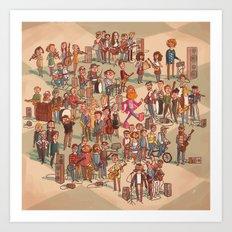 Icelandic Indie Music Art Print