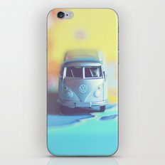 Silver Vintage Bus iPhone & iPod Skin