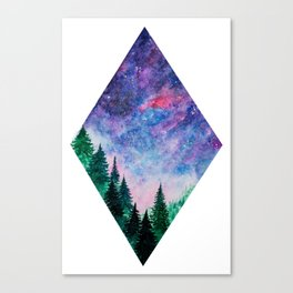 Forest in space Canvas Print