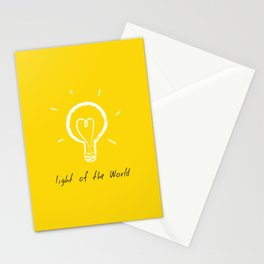 Light of the World - yellow Stationery Cards