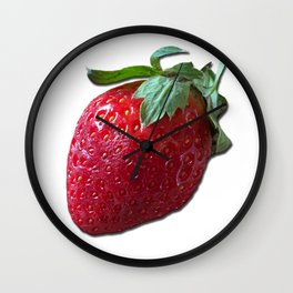 Strawberry on white Wall Clock