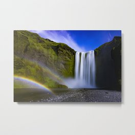 Waterfall, Isle of Skye Metal Print