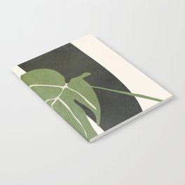 Abstract Monstera Leaf Notebook